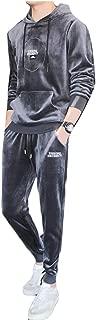 Maweisong Men's Tracksuit Casual Velvet Sweatshirt Top Pants Sets Sports Suit