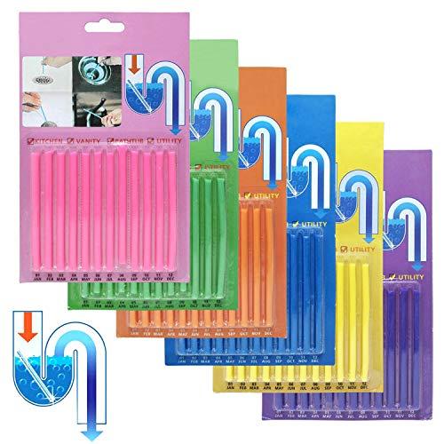 Sani Sticks Flying swallow Palillos para desagüe,Cleaning Sticks, limpiador de desagües,mantiene las tuberías de desagüe limpias y libres de atascamientos.(72PCS)