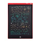 Newest LCD Writing Tablet, Electronic Digital Writing &Colorful Screen Doodle Board, Cimetech 12-Inch Handwriting Paper Drawing Tablet Gift for Kids and Adults at Home,School and Office (Red)