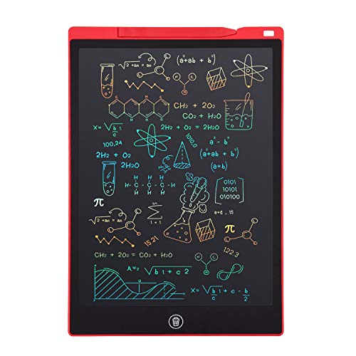 LCD Writing Tablet, Electronic Digital Writing &Colorful Screen Doodle Board, cimetech 12-Inch Handwriting Paper Drawing Tablet Gift for Kids and Adults at Home,School and Office (Red)
