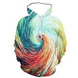 qishi 3D impresión color relámpago pareja casual sudadera con capucha de los hombres