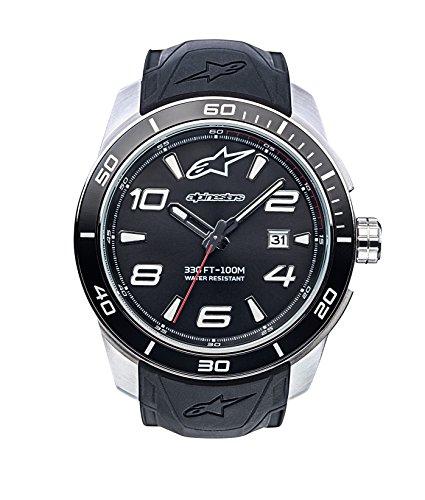 Alpinestars Herren Analog Klassisch Quarz Uhr mit Silikon Armband 1036-96007