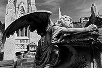 ERZAN大人のパズル1000バルセロナ黒と白の天使の歴史的な墓地の彫刻減圧ジグソーおもちゃキッズギフト