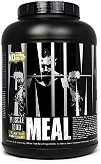 Animal Meal – All Natural High Calorie Meal Shake – Egg Whites, Beef Protein, Pea Protein, Rolled Oats, Sweet Potato, Vanilla 5 Pound