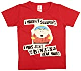 Logoshirt - Camiseta con Estampado de South Park con Cuello Redondo para nio, Talla 4-6 Years - Talla Inglesa, Color Rojo (Vintage Red)