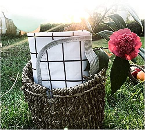 OH 2M * 1.5M Mat de Picnic Al Aire Libre Camping Picnic Mat Impermeable Picnic Mats Matters Colchoneta Camping Mats Play Mats Plaid Manta, Manta de Picnic profesional/White Grid /