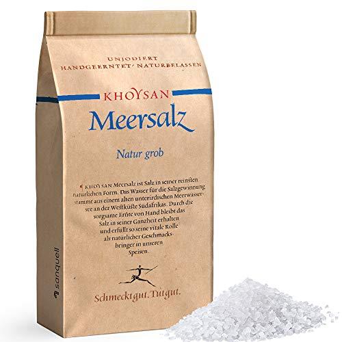 Premium Meersalz grob 1kg | unjodiert | für Salzmühle geeignet | ohne Rieselhilfe | unbehandelt & handgeschöpft | ausgezeichnet von Gourmets