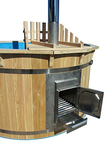 sell-tex Badezuber Badefass Badetonne Badebottich Pool Outdoor Hot Tub Whirlpool Komplettset mit Deckel Ø180cm