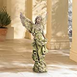 John Timberland Angel 31' High Bronze and Green Moss Indoor-Outdoor Statue