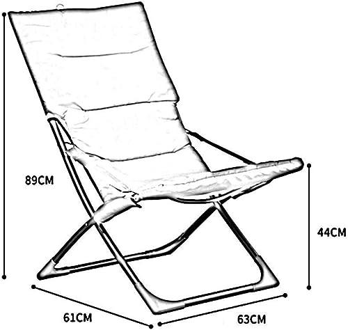 mejor opcion XQY Silla de la la la Cama del Dormitorio, Silla Perezosa del Estudiante, artefacto del Dormitorio de la Universidad Ocio al Aire Libre de la Playa Sillas Plegables, sillas traseras de la Oficina del Porta  el más barato