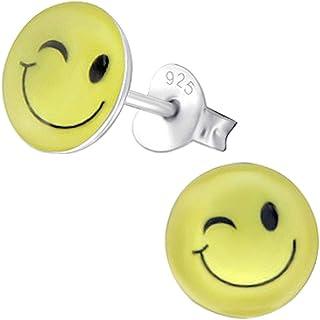 Boucles d/'oreilles Acier clous SMILEYS EMOTICONES 3D