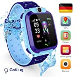 Smartwatch Kinder Tracker Kinderuhr Junge Digital Smart Watch Kinder GPS Uhr Kinder Telefonieren...