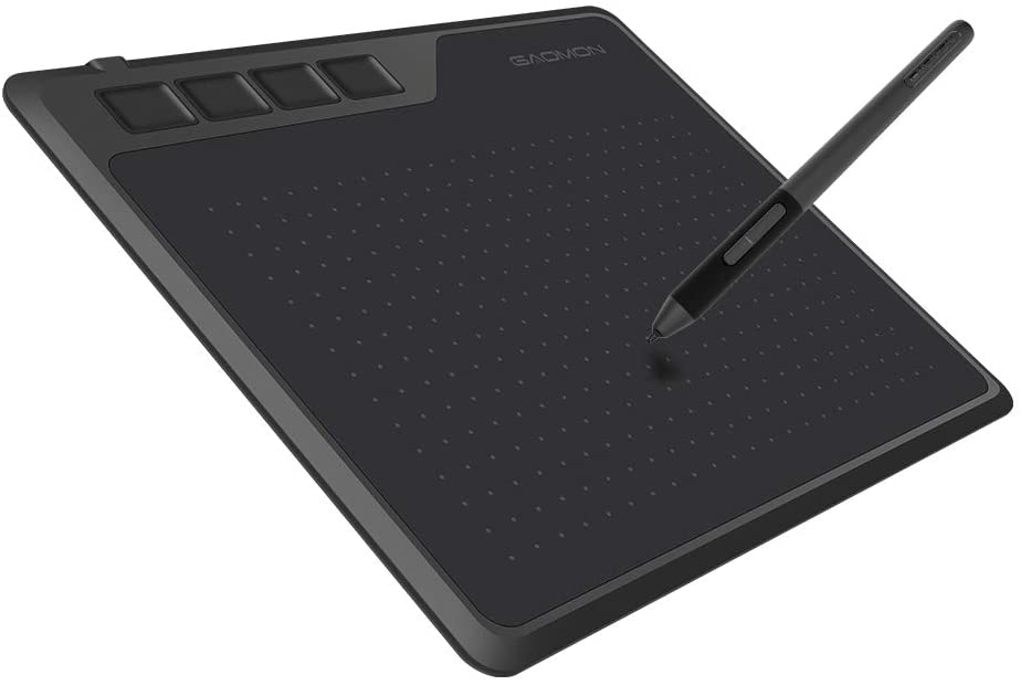 GAOMON S620 Graphics Tablet 6.5 x 4 Inches Pen Tablet with 4 Express Keys and Battery-Free Pen for Digital Drawing and Gaming on Windows&Mac OS & Android Device