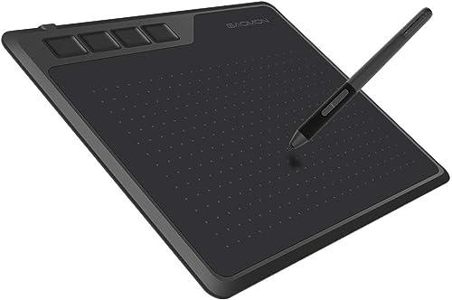 GAOMON S620 Tablet Gráfico 6,5 x 4 polegadas Caneta Tablet com 4 teclas expressas e caneta sem bateria para desenho d...
