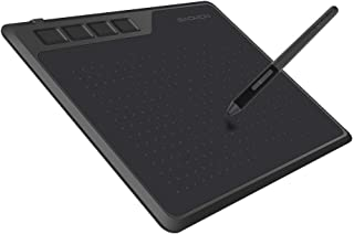 GAOMON S620 Graphics Tablet 6.5 x 4 Inches Pen Tablet with 4 Express Keys and Battery-Free Pen for Digital Drawing and Gam...