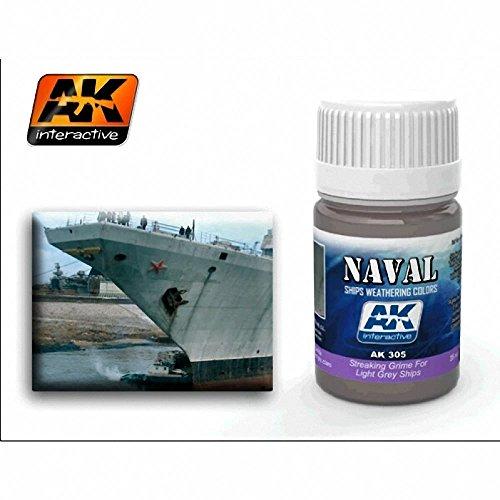 AK Interactive - Streaking Grime for Light Grey Ships - (AK00305)