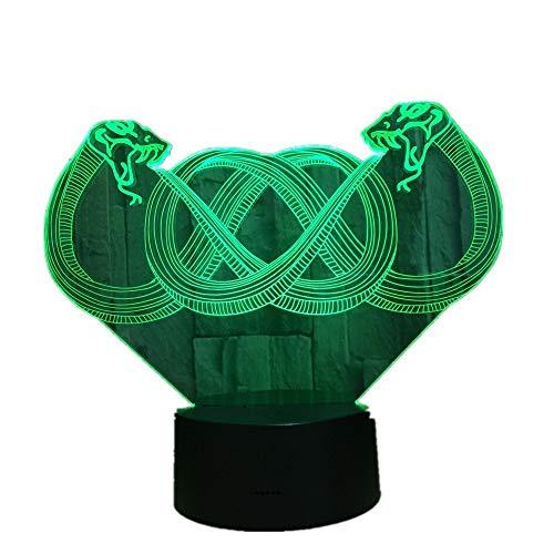 Sproud 3D Illusion Lampe/7 Farben Auto Ändern/LED Nachtlichter/Touch Schalter Schreibtisch/Nachtlicht für Kinder/Kinder Geschenk Drache
