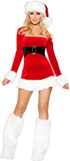 Christmas/Carnival Halloween Costumes,Outfits for One-Piece Skirt Fancy Dress Sexy Women Red New Santa Suit Adult Cosplay