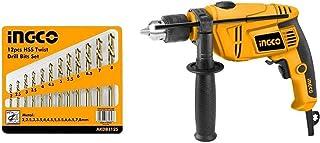 INGCO Drill 650W & 12 steel Bits