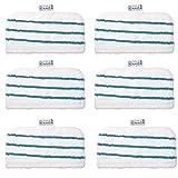 LongRong - Lote de 6 almohadillas de microfibra para Black+Decker FSMP20, compatible con FSM1610/1630