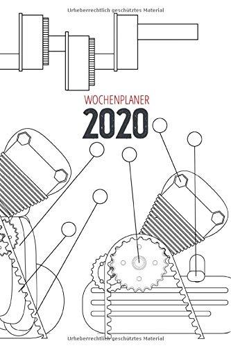 Wochenplaner 2020: Terminplaner 2020 | Jahreskalender A5 | Timer | KFZ Mechaniker Techniker Mechatroniker Geschenk | 160 S. | A5 | Plan Motor