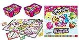 Shopkins Supermarket Scramble Game and 2 Basket Bundle - 3 Items: 1 Board Game,2 Randomly Picked Baskets (4 Characters Total)