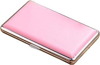 JTYX Leather Cigarette Case Ultra Thin Portable Women Plus Long Cigarettes Box