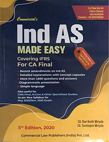 Ind AS Made Easy Covering IFRS For CA Final 5th Edition 2020
