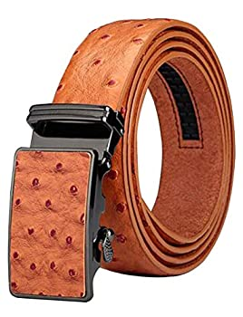 Men s Belt Ratchet Leather Dress Belt with Automatic Buckle 35mm Wide 27 -40