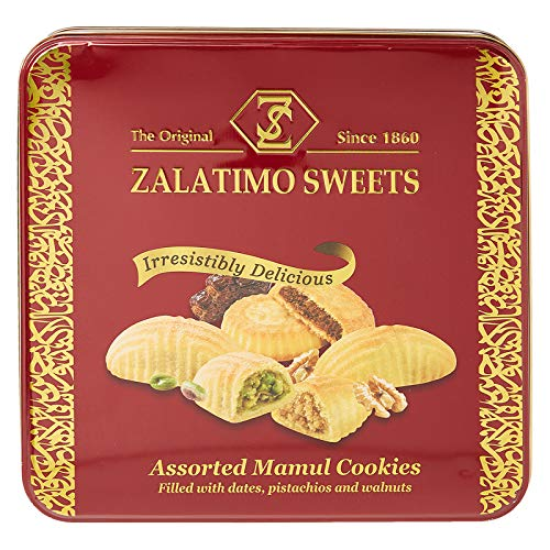 Zalatimo Sweets - Edle MAMUL Kekse gefüllt mit Datteln, Pistazien und Walnüssen (780g)