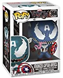 Venom (Marvel) Figura Vinilo Venomized Captain America 364 Unisex ¡Funko Pop! Standard, Vinilo,