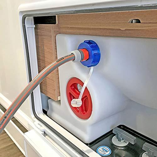 WAFA+ G7 Fülladpater & Wassertankdeckel in einem für Wohnmobile Knaus, Weinsberg, Bürstner, GROBGEWINDE