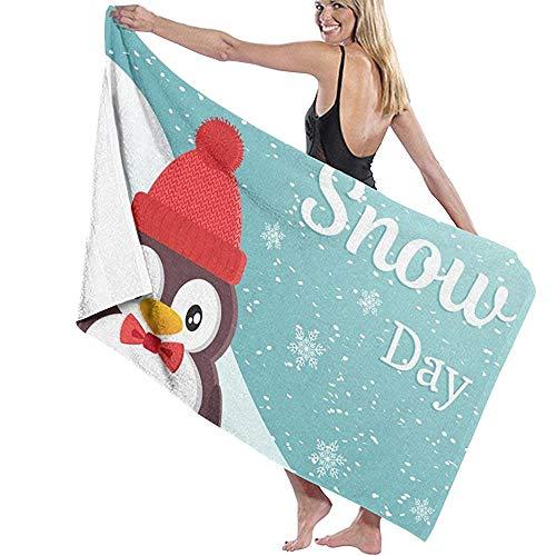 Mathillda Badetuch Wrap World Snow Day druckt Womens Spa Dusche und Wickeltücher Bad Bademantel-Weiß