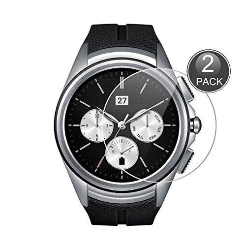 E-Hamii [2-Pack LG G Watch Urbane 2nd W200 Protector de Pantalla, 0.26mm HD Anti-Scratch y Anti-Huella Digital Proteger la película, 9H Vidrio Templado Cubierta Protectora