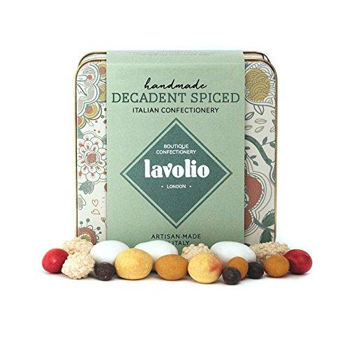 Lavolio Dekadentes Gewürz-Konfekt in Geschenkdose (175 g) - Premium-Auswahl an überzogenen Nüssen, Kaffee und Gewürzen sowie Schokolade