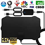 WEWAK Antenna TV Interna HDTV Antenna Digitale con Amplificatore Booster Segnale 4K 1080p ...