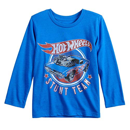 Jumping Beans Boys 4-12 Hot Wheels Stunt Team Graphic Tee Boys 7 Blue
