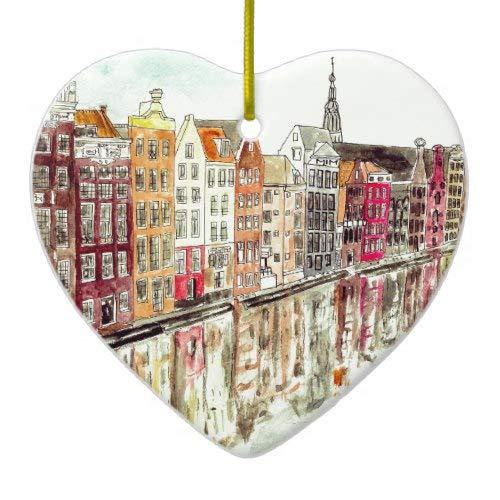 Tiukiu Amsterdam Ceramic Ornament Keepsake Gift Idea