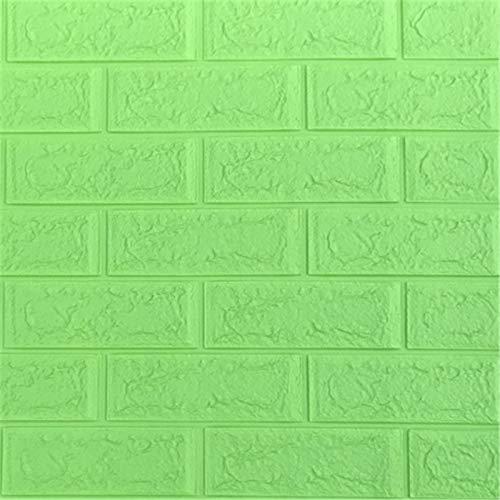 LZYMLG Selbstklebende Wasserdichte TV Hintergrund Backstein Tapeten 3D Wandaufkleber Wohnzimmer Tapete Wandbild Schlafzimmer Dekorative Aufkleber Frucht grün