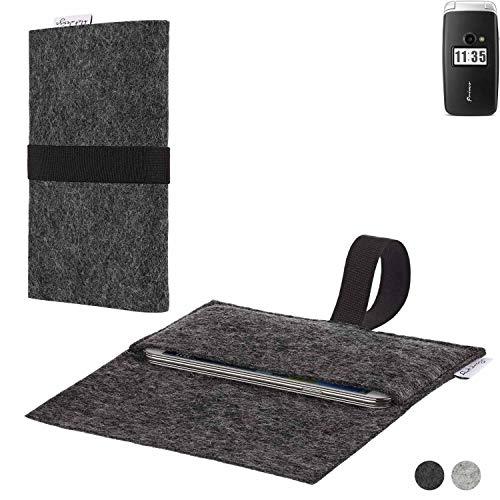 flat.design Handy Hülle Aveiro für Doro Primo 413 passexakte Filz Tasche Hülle Sleeve Made in Germany