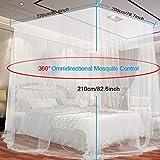 Moskitonetz, yotame rechteckiger Mückennetz für Bett, Reise Moskitonetz Hochwertig Feinmaschig für Doppelbett, Betthimmel für Moskitoschutz, Insektenschutz auf der Reise, Grösse: 230 x 220 x 235 cm - 7