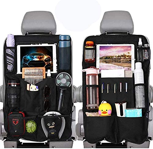 WonVon Car Backseat Organizer with 10 Clear Screen Tablet Holder and USB Headphone Slits Car product image