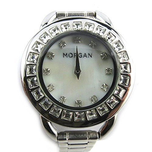 Morgan [N2419] - Armbanduhr 'French Touch' 'Morgan' Weiss-Silber (diamanten).