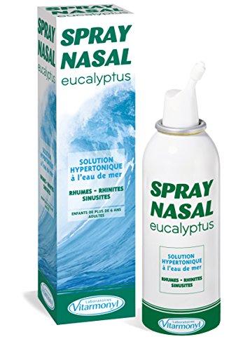 VITARMONYL - Spray Nasal Eucalyptus Et Eau de Mer – Hypertonique Décongestionnant – 125 ml