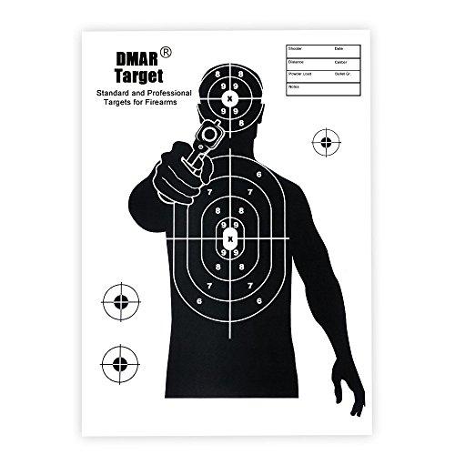 DMAR 20 piezas 42cm 17 pulgadas, dianas de papel de tiro, silueta táctica, objetivos de entrenamiento para disparar Airsoft al aire libre
