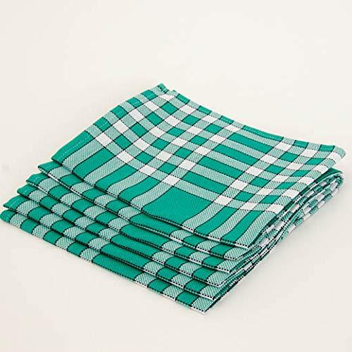 Lingorama Serviette de Table 50 x 50 Normandes Carreaux Pur Coton - Vendu par 3 - Coloris Vert