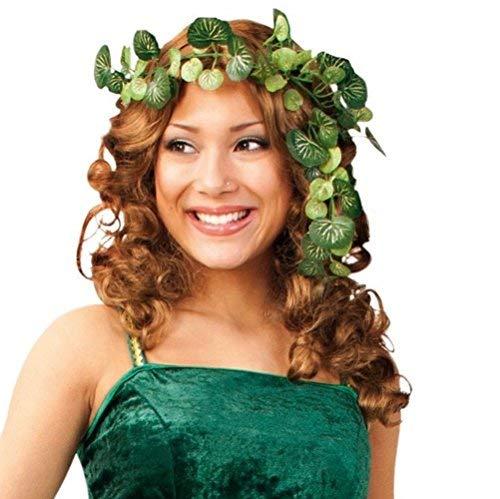 KarnevalsTeufel Efeu Ranke Verkleidung, Blätterranke Kopfschmuck für Waldfeenkostüm , Elfenkostüm, Accessoire für Damen