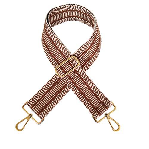 TENDYCOCO Shouolder tas riem met gesp verstelbare schoudertas riemen vervanging koppeling portemonnee riem voor meisjes dames vrouwen 130 * 5.2CM kaki