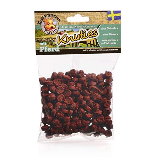 Larsson ® | KNUTIES Kauartikel - Kartoffel-Pferd Hunde Snack Leckerlie 150gr