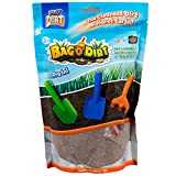 Bag O' Dirt - Unique Play Dirt For Burying and Digging Fun. Includes Rake, Round Shovel and Square Shovel.